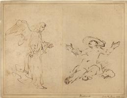 Рембрандт Харменс ван Рейн. Агарь, сидящая у фонтана