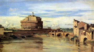Камиль Коро. Замок Святого Ангела и Тибр в Риме