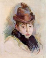 Берта Моризо. Молодая женщина в шляпке