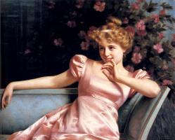 Витторио Реджианини. Дама в розовом платье