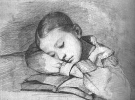 Гюстав Курбе. Портрет спящего ребенка Джульетты