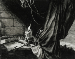 Still life with a candle