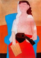 Ю. Пуджиес. Женщина с мандолиной