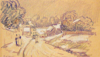 Alfred Sisley. Early snow at Louveciennes