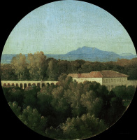 Жан Огюст Доминик Энгр. Римский пейзаж с акведуком на вилле Боргезе
