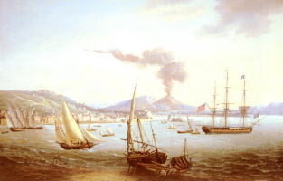 Джон Томас Серрес. Английский фрегат в заливе Неаполя