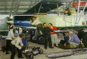 "Konstantin Fedorovich Yuon. ""Test suspension bombs"""