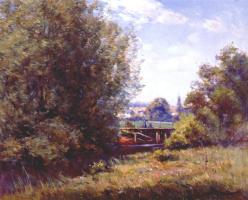 Уильям Вендт. Пейзаж с мостом