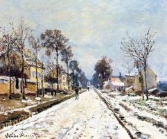 Клод Моне. Снежный эффект, дорога на Лувесьенн