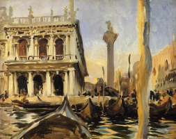 John Singer Sargent. Library. Venice