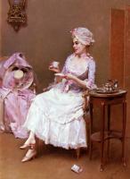 Раймундо Мадрасо. Молодая девушка с чашкой