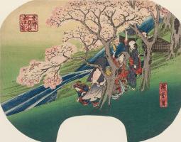 Цветущая вишня в Арасияма, в Киото