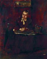 """Михай Либ Мункачи. Портрет можилой дамы. Эскиз для картины """"В ломбарде"""""""