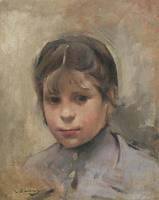 Рамон Касас Карбо. Portrait of a girl