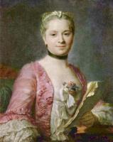 Морис Кантен де Латур. Портрет дамы