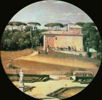 Жан Огюст Доминик Энгр. Вид на дом Рафаэля со стороны виллы Боргезе в Риме