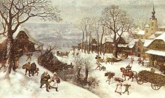 Лукас ван Валкенборч. Зимний пейзаж