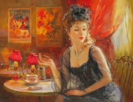 Константин Разумов. Дама с сигаретой.