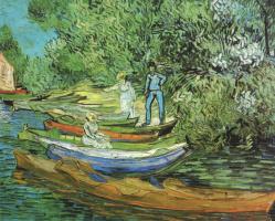 Винсент Ван Гог. Лодки у берега реки Уаз в Овере