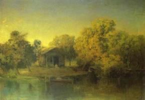 Fedor Alexandrovich Vasilyev. Sunset on the pond