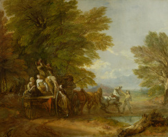 Thomas Gainsborough. The harvest lying on the wagon