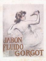 """Рамон Касас Карбо. Рекламный плакат жидкого мыла """"Горго"""""""