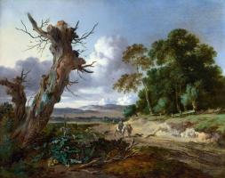 Ян Вейнантс. Пейзаж с двумя мертвыми деревьями