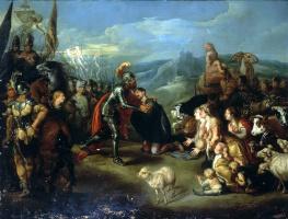 Симон де Вос. Встреча Исава и Иакова