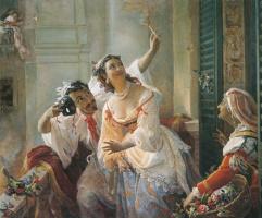 Пимен Никитич Орлов. Сцена из римского карнавала