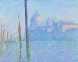 Claude Monet. The Grand canal in Venice and the Cathedral of Santa Maria della Salute