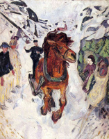 Эдвард Мунк. Конь на скаку