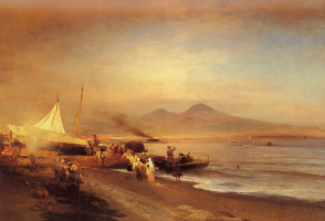 Oswald Achenbach. The Bay of Naples