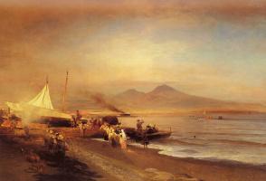 Освальд Ахенбах. Неаполитанский залив