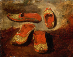Eugene Delacroix. The babush (Turkish Slippers)