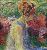 Эмиль Нольде. Девушка и цветы