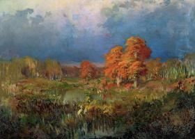 Фёдор Александрович Васильев. Болото в лесу. Осень