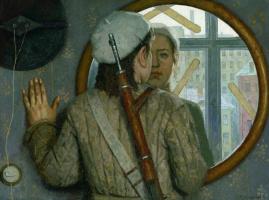 Heliy Mikhailovich Korzhev. In front of the mirror