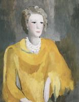 Мадам в желтом платье