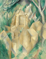 Georges Braque. The New Castle at La Roche-Guyon