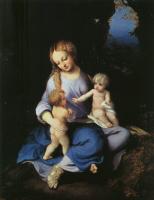 Антонио Корреджо. Мадонна с младенцем и молодой Святой Иоанн