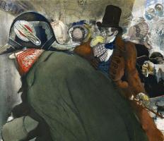 "Lev Samoilovich Bakst (Leon Bakst). Illustration to Gogol's ""Nose"""