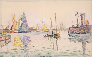 Paul Signac. Sailboats in the Harbor of Les Sables-d'olonne