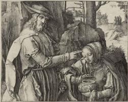 Лукас ван Лейден (Лука Лейденский). Христос-садовник, являющийся Марии Магдалине