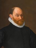 Адриан Томас Кей. Портрет бородатого мужчины в черном камзоле