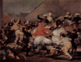Francisco Goya. Skirmish with the Mamelukes on 2 may 1808 in Madrid