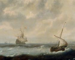 Ян Порселлис. Корабли у побережья