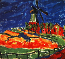 Эрих Хеккель. Ветряная мельница в Дангасте