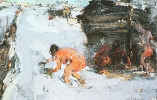 Nikolay Feshin. Bath