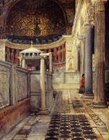Лоуренс Альма-Тадема. Интерьер церкви Сан-Клементе в Риме