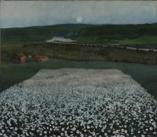 Harald Oscar Solberg. Flower Meadow in the North